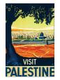 Visit Palestine Giclee-tryk i høj kvalitet af Franz Kraus