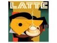 Cubist Latte I Giclee-tryk i høj kvalitet af Eli Adams