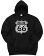 Hoodie: Route 66 Hættetrøje