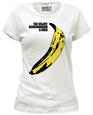 Juniors: The Velvet Underground - Banana T-shirt til damer (tætsiddende)