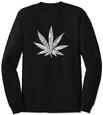 Long Sleeve: Marijuana Leaf Langærmet T-shirt
