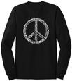 Long Sleeve: Peace in 77 Languages Langærmet T-shirt
