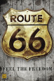 Route 66 - Golden Sign Póster