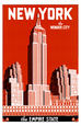 New York-reseannonser (vintagekonst) Posters