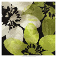 Green Flowers (Decorative Art) Posters