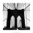 Fotografías en blanco y negro de puentes urbanos Posters