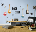 Musical Instrument Wall Decals Posters