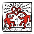 Untitled, c.1989 Kunsttryk af Keith Haring