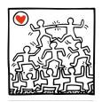 One Man Show (details) Sanatsal Reprodüksiyon ilâ Keith Haring