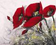 Bouquet de Coquelicots IV Kunsttryk af Olivier Tramoni