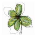 Grønne blomster (dekorativ kunst) Posters