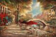 Riverwalk Café Lámina por Ruane Manning