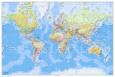 Dünya Haritası 2011 İngilizce Poster