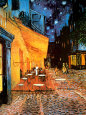 Den udendørs café på Place du Forum, Arles, om natten, ca.1888 Kunsttryk af Vincent van Gogh