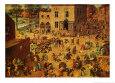 Jeux d'enfants Reproduction d'art par Pieter Bruegel the Elder