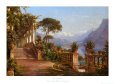 Lodge on Lake Como Art Print by Carl Frederic Aagaard