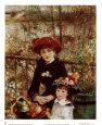 On the Terrace Art Print by Pierre-Auguste Renoir