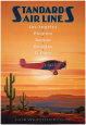 Standard Airlines, El Paso, Texas Art Print by Kerne Erickson