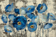Blue Flowers (Decorative Art) Posters