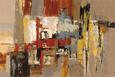 Brun og gylden abstrakt (dekorativ kunst) Posters