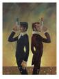 The Duel Speciální digitálně vytištěná reprodukce od Aaron Jasinski