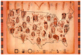 Native American Tribes Map Art Print Poster plakat