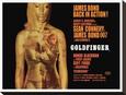 Goldfinger-Projection Lærredstryk på blindramme