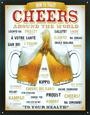 Cheers Around The World Beer Cartel de chapa