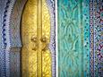 Royal Palace Door, Fes, Morocco Fotografisk tryk af Doug Pearson