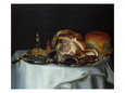 Still Life with Meat and Bread (Pair of 78161) Giclée-tryk af George, of Chichester Smith