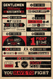 Fight Club-regler, infografik Plakat