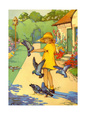 People in Gardens (Vintage Art) Poster