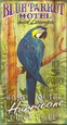 Blue Parrot Vintage Cartel de madera