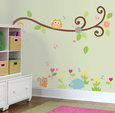 Happi Scroll Branch Peel & Stick Wall Decals Kalkomania ścienna