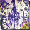 Purple Chandelier Reproducción en lienzo de la lámina