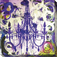 Purple Chandelier Płótno naciągnięte na blejtram - reprodukcja