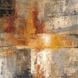 Orange abstrakt (dekorativ kunst) Posters