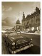 Vintage car on a Havana street Kunsttryk af Angelo Cavalli