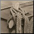Nautical Aspect IV Reprodukce aplikovaná na dřevěnou desku od Michael Kahn