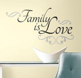 Family is Love Peel & Stick Wall Decals Wallstickers