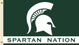 NCAA Michigan State Spartans Flag with Grommets Bandera