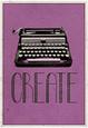 Twórz - Maszyna do pisania, plakat retro plakat