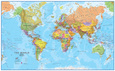 World MegaMap 1:20 Wall Map, Laminated Educational Poster Plakat laminowany