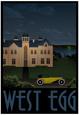 West Egg Retro Travel Poster Poster