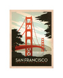 San Francisco: Golden Gate Bridge Giclee Baskı ilâ Anderson Design Group