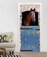 Horse Door Wallpaper Mural Fototapeta