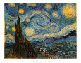 La nuit toile, vers 1889 Reproduction d'art par Vincent van Gogh