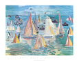 Regatta Art Print by Raoul Dufy