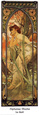 Evening Art Print by Alphonse Mucha