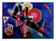 Blå Kunsttryk af Wassily Kandinsky